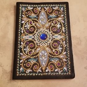 Jeweled Soft Leather Notebook/journal NWOT